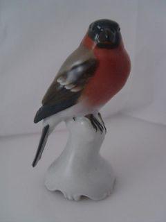 Kunstabteilung Selb Germany Bullfinch Bird T. KARNER Figurine