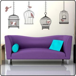 Hanging BIRD CAGE vinyl Wall Decals Stickers Decor Art