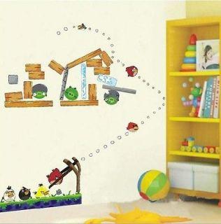 Angry Birds Art Mural Wall Nursery Kids Decal Vinyl Sticker Decals
