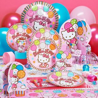 HELLO KITTY Party Supplies / Decorations / Plates / Napkins / Cups