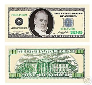 100 Dollar Bill ( Great w/ Gold ) 10   PACK
