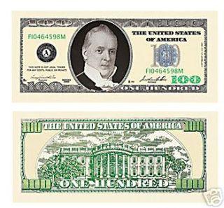 100 Dollar Bill ( Great w/ Gold ) 10   PACK
