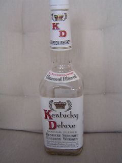 Empty Kentucky Deluxe bourbon whiskey   bottle only   no alcohol