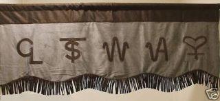 Western Decor Branded Valance Window Treatment Curtain