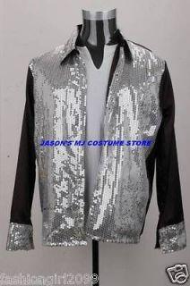 WOW MICHAEL JACKSON BILLIE JEAN 25th MOTOWN SEQUIN SHIRT MJ COSTUME