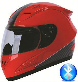 TORC T10B Blinc Bluetooth Full Face Motorcycle Helmet DOT Absolute Red