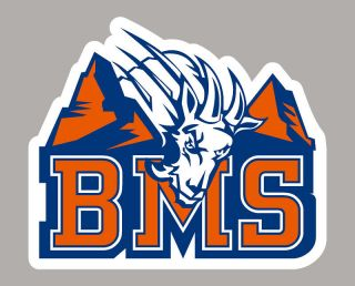 BLUE MOUNTAIN STATE college decal sticker LOGO