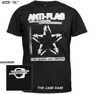 ANTI FLAG   T SHIRT   FOR BLOOD & EMPIRE   PUNK ROCK BAND  XL