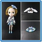 Neo Kenner Blythe Doll Outfit Handmade Dress Clothes Basaak shirt and