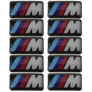 10X BMW M Series Tec Sport Wheel Badge M1 M3 M5 M6 3D Emblem Decals