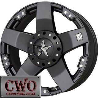 20 Black Rockstar Wheels Rims 6x135/6x139.7 6 Lug F150 Chevy Escalade