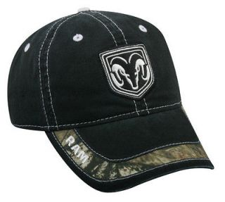 NWT. Dodge Ram, Black, Mossy Oak Camo Cap Hat