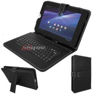 Newly listed Black Leather Case Stand+USB keyboard+Stylu s For Toshiba