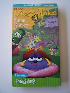 Veggie Tales MADAME BLUEBERRY Thankfulness 1993 VHS