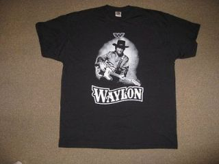 WAYLON JENNINGS   T SHIRT RARE TOUR SHIRT