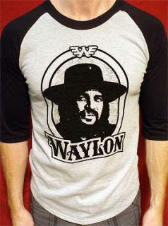 Waylon Jennings t shirt vtg style tour short/long sleeve mens & womens