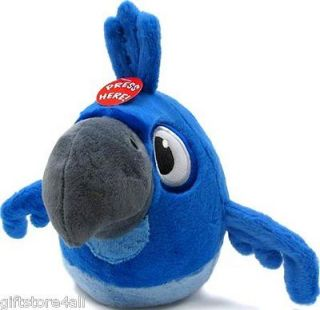 Lot Of 3, Angry Birds Red & Blue Bird Plush, & Rio Monkey with Sound