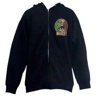 NEW  BOB MARLEY   LION ZIP UP HOODIE   COLOR  BLACK
