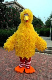 New Adult Suit Size Big Bird Sesame Street Mascot Cartoon Costume