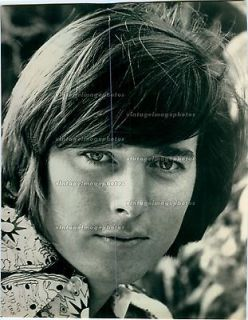 1971 Bobby Sherman Singer Face Closeup Musician Artist Eyes Press