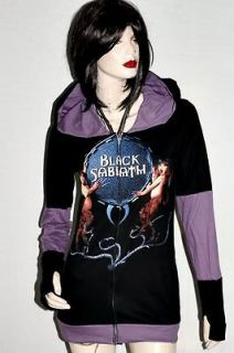 Black Sabbath Metal Punk DIY Funky Hoodie Zip Up Jacket Top