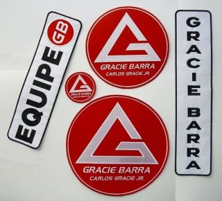 GRACIE BARRA GI BJJ BRAZILIAN JIU JITSU MMA UFC 5 PATCH SET IRON ON