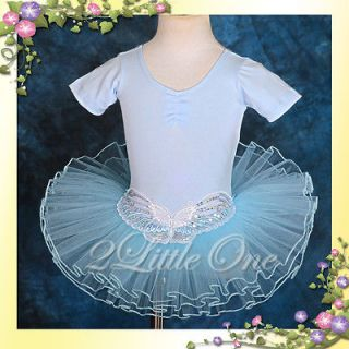 Ballet Tutu Dance Costume Fairy Dress Up Butterfly Girl Blue Child