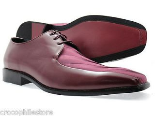 Mens Dress Shoes Bolano Oxford Lace Up linen Burgundy Fashion Shoes