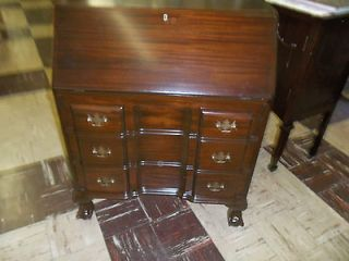 Mahogany Secretary Desk Refinished Rea dy Ball/Claw Feet Orig. Labels
