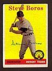 1958 TOPPS #81 STEVE BOROS DETROIT TIGERS SHORTSTOP SIGNED CARD AUTO