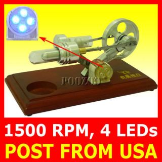 NEW HOT AIR STIRLING ENGINE ELECTRICITY/POWER GENERATOR FUNNY TOY WITH