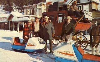 PONDEROSA RANCH BONANZA PA JOE & HOSS NEVADA Postcard COLT CHARGER
