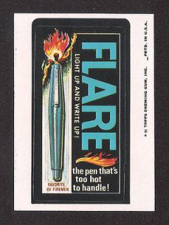 1975 Topps Wacky Packages 12th Series 12 FLARE PEN nm /nm