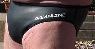 NEW Oceanline Mens Neoprene Rubber Bikini Brief Swimsuit XS XXL