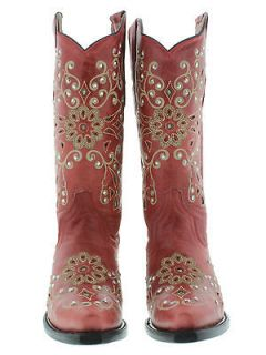 New womens cowboy boots ladies gringo love 192 rhinestones crystals