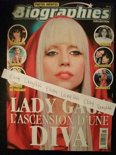 LADY GAGA FRENCH MAGAZINE BIOGRAPHY *FEB. 2013* MONTREAL ONLY **RARE