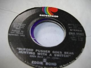 Country Promo 45 EDDIE BOND Buford Pusser Goes Bear Hunting With A