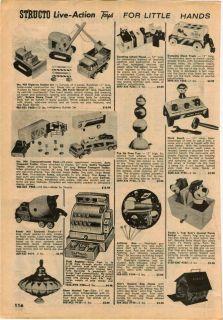 1962 63 AD Structo Toys Bull Dozer Dump Truck Buddy L Yogi Bear Pedal