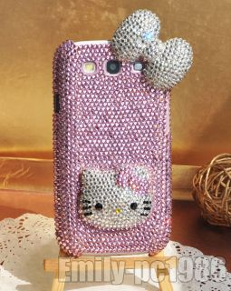 Bling Hello Kitty Bow Swarovski Crystal Case Cover For Samsung Galaxy