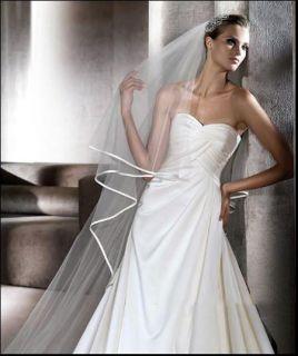 1T Bridal Long White / Ivory Wedding Veil Accessories 104.33 AV001