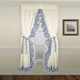 Country Ruffle Priscilla Curtains with Bow Ties