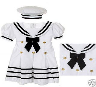New Baby Girl Toddler Sailor Easter Party Formal Dress Outfits S M L