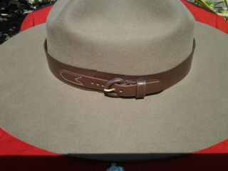 Leather RCMP Style Hatband for Stetson Hat