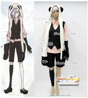 Un Go Inga Brack Cosplay Costume + Hat with Paws + Tail