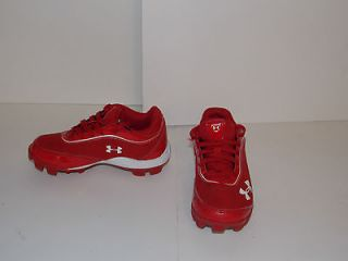 Red Under Armour Soccer Tball Baseball Football Cleats Toddler Size 11