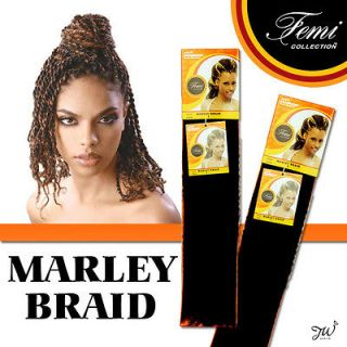 Marley Braid Kanekalon Kinky Braiding Hair Synthetic Extention