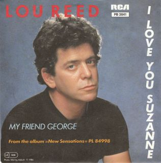 LOU REED I Love You Suzanne GERMAN 7 w/PS Velvet Underground