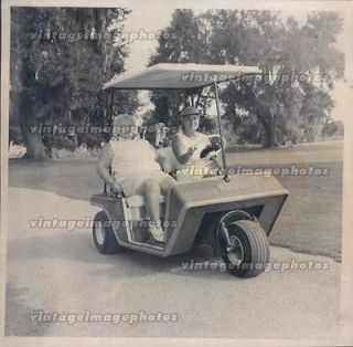 1974 Peggy Brayton Iris Booth Golfers Vintage Golf Cart Three Wheel