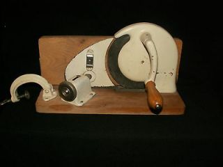 Peter Dienes PeDe Hand Crank Bread/Meat~ Slicer Gemany Wood Handle