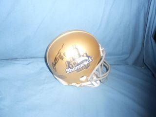 Notre Dame Irish GEORGE ATKINSON signed Shamrock Series Mini Helmet